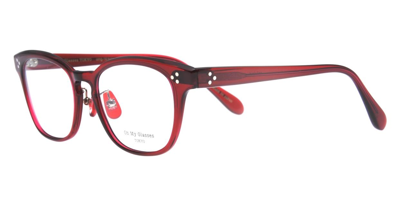 Oh My Glasses TOKYO Andrew omg-132-BDX-51 [鯖江産/ウェリントン/赤]  1
