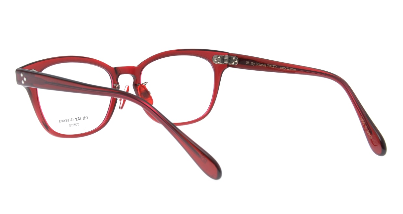 Oh My Glasses TOKYO Andrew omg-132-BDX-51 [鯖江産/ウェリントン/赤]  3