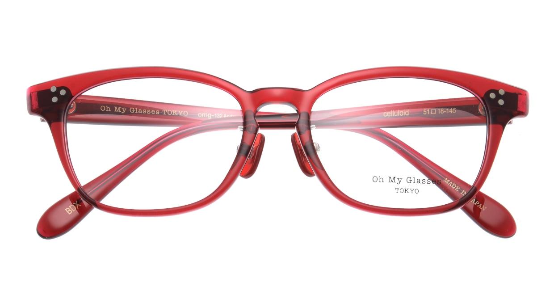 Oh My Glasses TOKYO Andrew omg-132-BDX-51 [鯖江産/ウェリントン/赤]  4