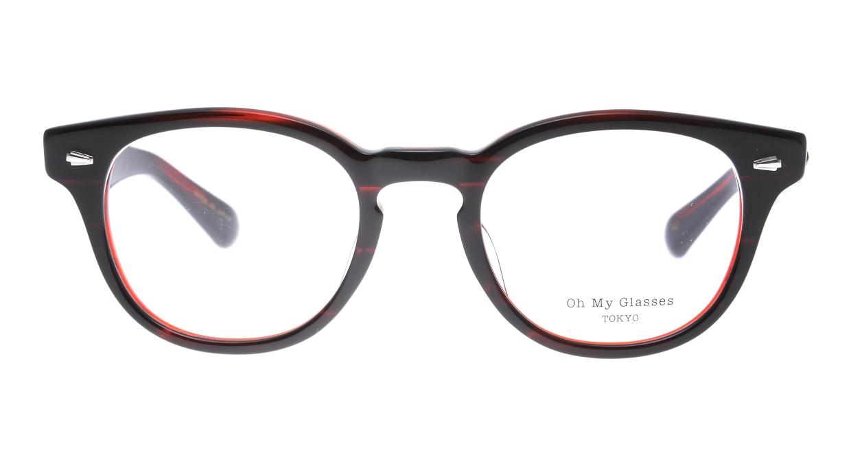 Oh My Glasses TOKYO Lucas omg-070-RD-48 [鯖江産/ウェリントン/赤]