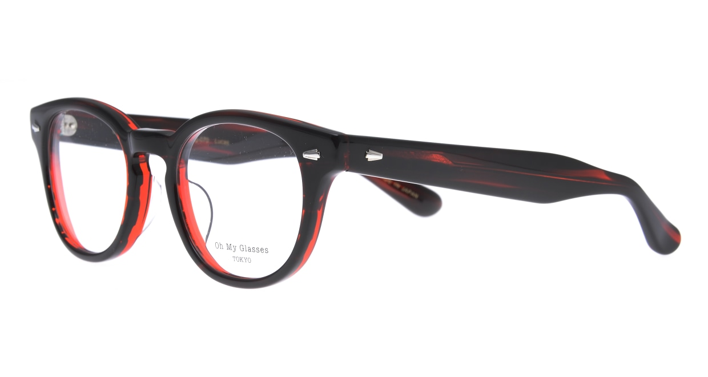 Oh My Glasses TOKYO Lucas omg-070-RD-48 [鯖江産/ウェリントン/赤]  1