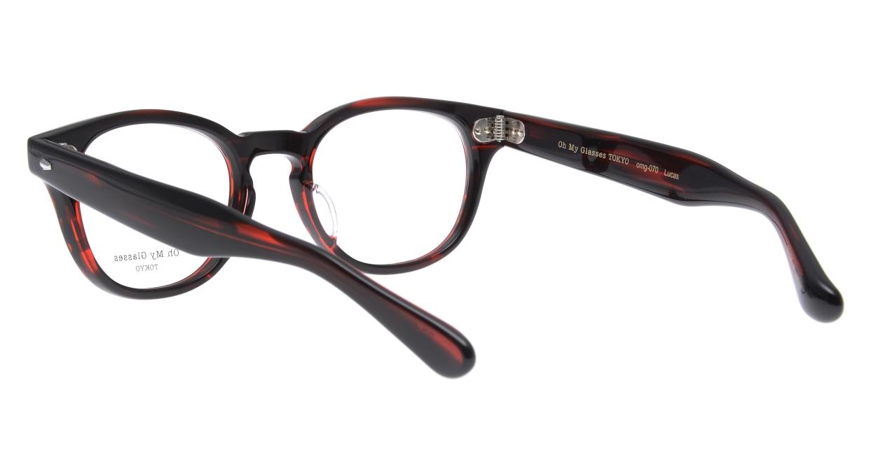Oh My Glasses TOKYO Lucas omg-070-RD-48 [鯖江産/ウェリントン/赤]  3