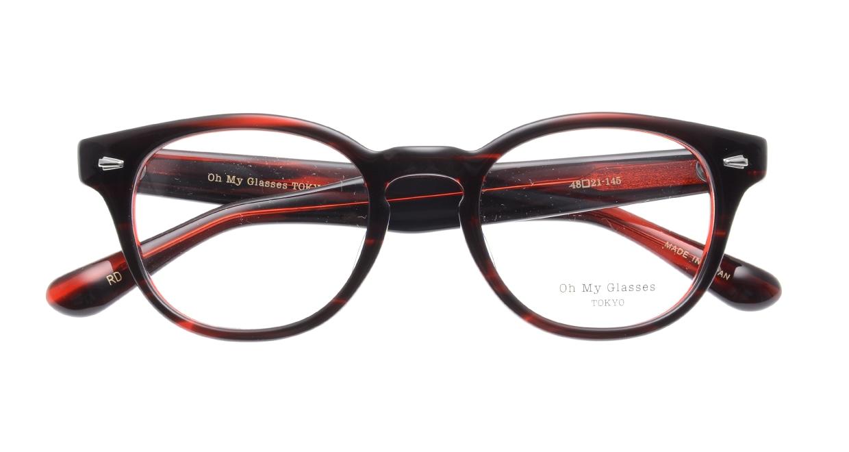 Oh My Glasses TOKYO Lucas omg-070-RD-48 [鯖江産/ウェリントン/赤]  4