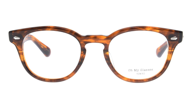 Oh My Glasses TOKYO Lucas omg-070-BR-48 [鯖江産/ウェリントン/茶色]