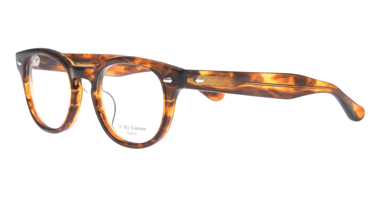 Oh My Glasses TOKYO Lucas omg-070-BR-48 [鯖江産/ウェリントン/茶色]  1