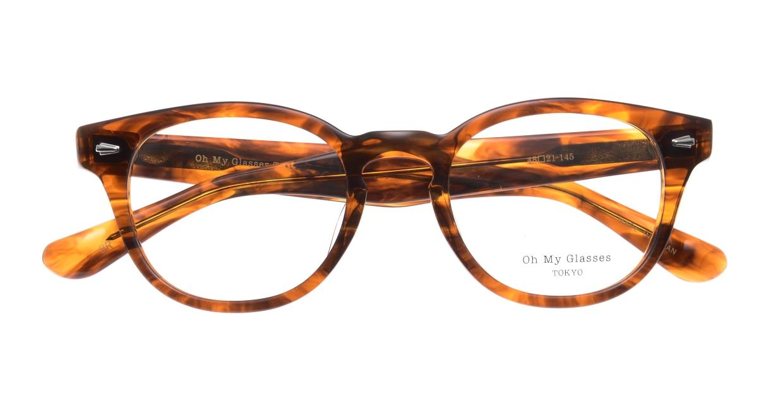Oh My Glasses TOKYO Lucas omg-070-BR-48 [鯖江産/ウェリントン/茶色]  4
