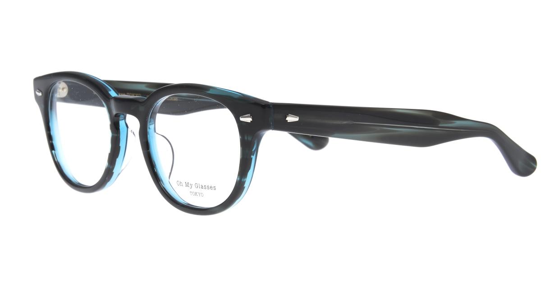 Oh My Glasses TOKYO Lucas omg-070-GRN-48 [鯖江産/ウェリントン/緑]  1