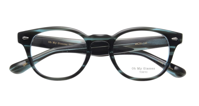 Oh My Glasses TOKYO Lucas omg-070-GRN-48 [鯖江産/ウェリントン/緑]  4