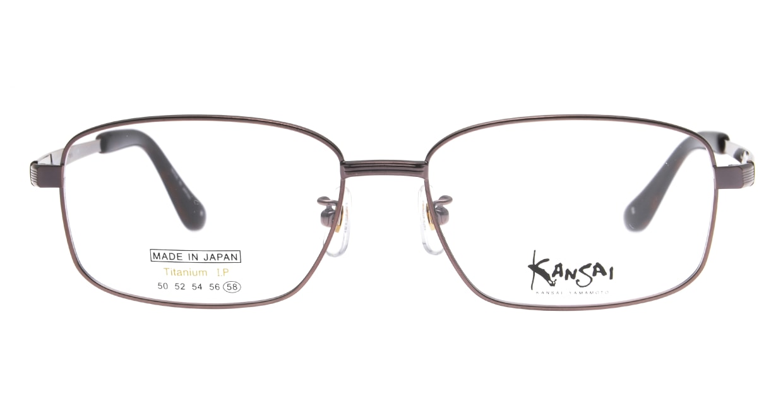 カンサイ ヤマモト KY1050-2-58 [メタル/鯖江産/ウェリントン/茶色]