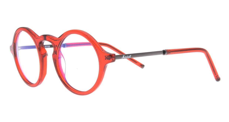 マーシャルアイウェア BRYAN Opt MA0008-Crimsonー117400-101 [丸メガネ/赤]  1