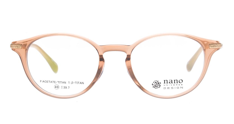 ナノ ユニバース NU2014-3-49 [丸メガネ/ピンク]