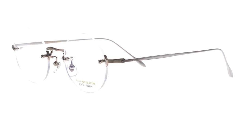 ハンドメイドアイテム H-3036-1-45 [メタル/鯖江産/縁なし/丸メガネ/シルバー]  1