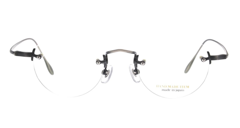 ハンドメイドアイテム H-3036-7-45 [メタル/鯖江産/縁なし/丸メガネ/シルバー]