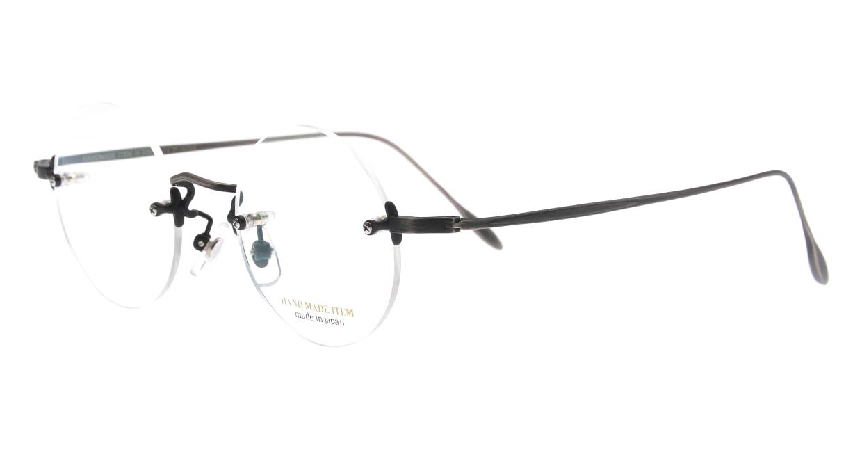 ハンドメイドアイテム H-3036-7-45 [メタル/鯖江産/縁なし/丸メガネ/シルバー]  1