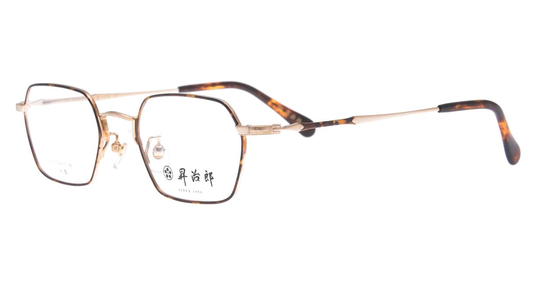 昇治郎 6020-BG/D-48 [メタル/鯖江産/スクエア/べっ甲柄]  1