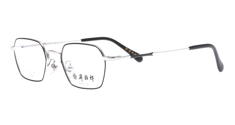 昇治郎 6020-SI/BK-48 [メタル/鯖江産/スクエア]  1