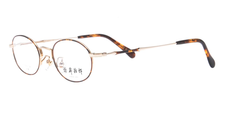 昇治郎 6019-GP/D-47 [メタル/鯖江産/オーバル/べっ甲柄]  1