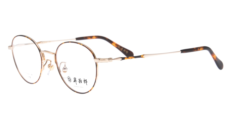昇治郎 6018-GP/D-47 [メタル/鯖江産/オーバル/べっ甲柄]  1