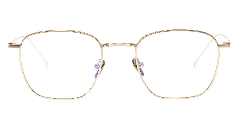 KOMONO OSCAR SLIM KOM-O5655-WHITE GOLD [メタル/ウェリントン/ゴールド]