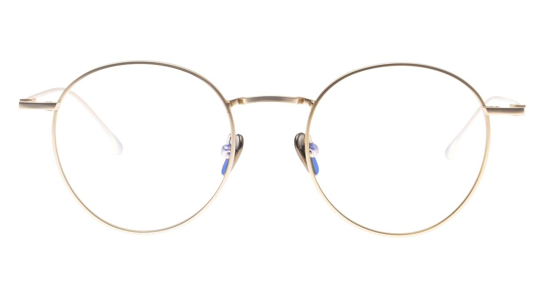 KOMONO DEAN SLIM KOM-O5557-WHITE GOLD [メタル/丸メガネ/ゴールド]