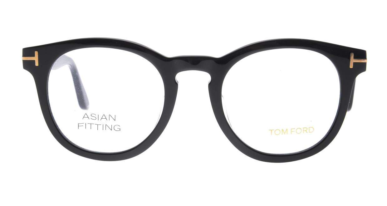 トムフォード FT5489FAsianFit-001-50 [黒縁/丸メガネ]