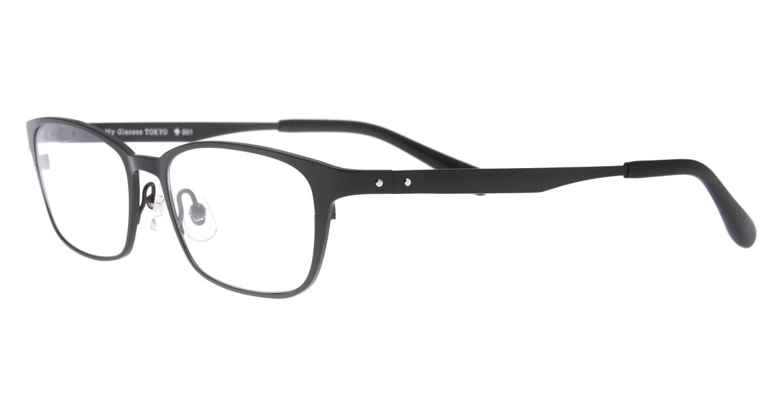 Oh My Glasses TOKYO 令-001-Black-52 [メタル/鯖江産/スクエア]  1