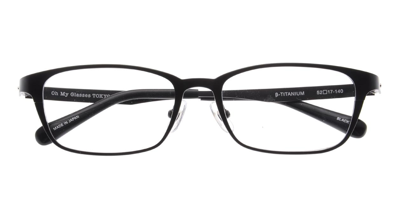 Oh My Glasses TOKYO 令-001-Black-52 [メタル/鯖江産/スクエア]  4