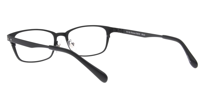 Oh My Glasses TOKYO 令-001-Matte-Black-52 [メタル/鯖江産/スクエア]  3