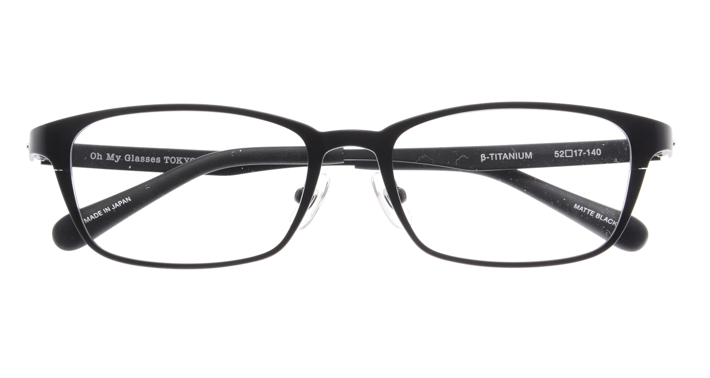 Oh My Glasses TOKYO 令-001-Matte-Black-52 [メタル/鯖江産/スクエア]  4