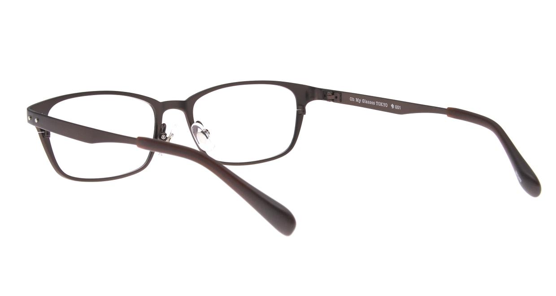 Oh My Glasses TOKYO 令-001-Brown-52 [メタル/鯖江産/スクエア/茶色]  3