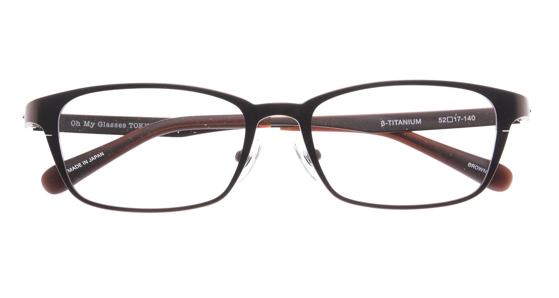 Oh My Glasses TOKYO 令-001-Brown-52 [メタル/鯖江産/スクエア/茶色]  4