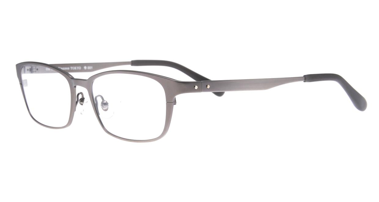Oh My Glasses TOKYO 令-001-Gray-52 [メタル/鯖江産/スクエア/グレー]  1
