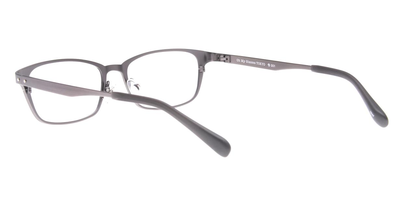 Oh My Glasses TOKYO 令-001-Gray-52 [メタル/鯖江産/スクエア/グレー]  3