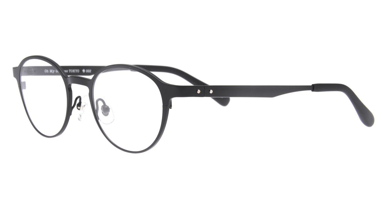 Oh My Glasses TOKYO 令-002-Matte-Black-47 [メタル/鯖江産/丸メガネ]  1