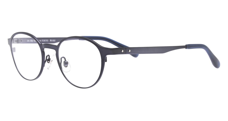 Oh My Glasses TOKYO 令-002-Blue-47 [メタル/鯖江産/丸メガネ/青]  1