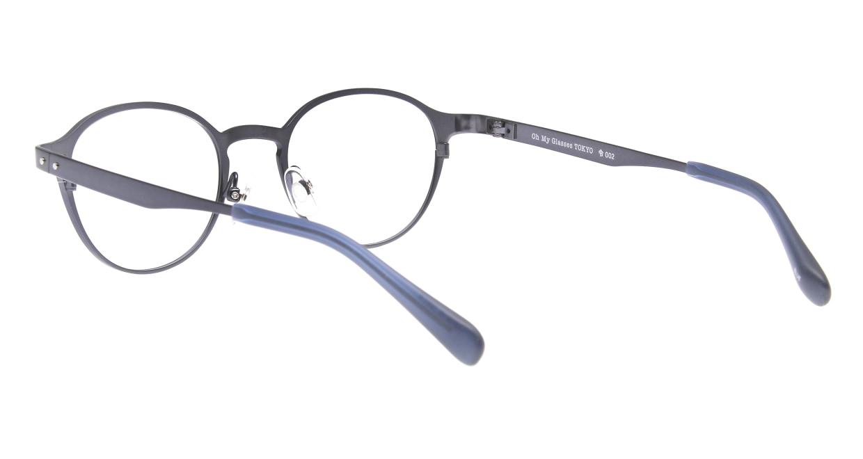 Oh My Glasses TOKYO 令-002-Blue-47 [メタル/鯖江産/丸メガネ/青]  3