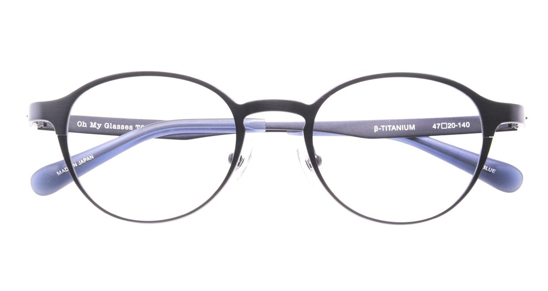 Oh My Glasses TOKYO 令-002-Blue-47 [メタル/鯖江産/丸メガネ/青]  4