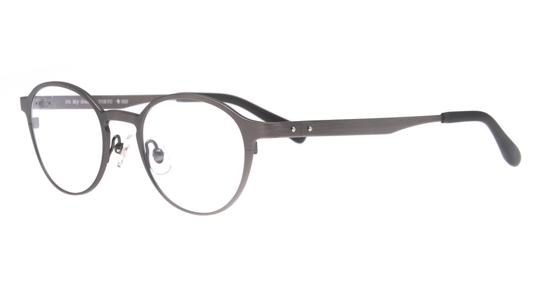 Oh My Glasses TOKYO 令-002-Gray-47 [メタル/鯖江産/丸メガネ/グレー]  1