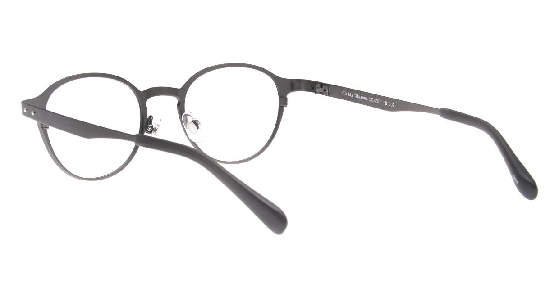Oh My Glasses TOKYO 令-002-Gray-47 [メタル/鯖江産/丸メガネ/グレー]  3