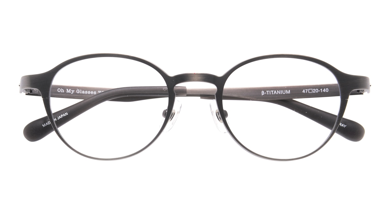 Oh My Glasses TOKYO 令-002-Gray-47 [メタル/鯖江産/丸メガネ/グレー]  4