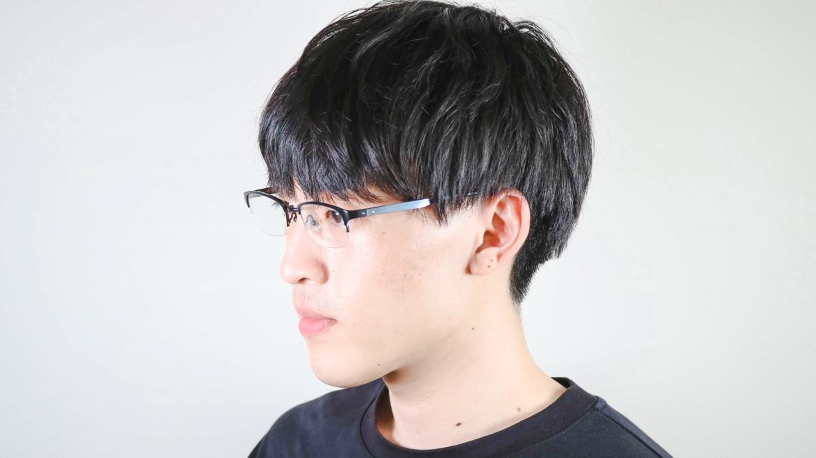 Oh My Glasses TOKYO 令-003-Black-51 [メタル/鯖江産/ハーフリム/スクエア]  6