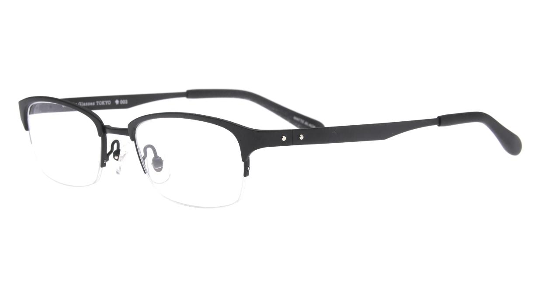 Oh My Glasses TOKYO 令-003-Matte-Black-51 [メタル/鯖江産/ハーフリム/スクエア]  1
