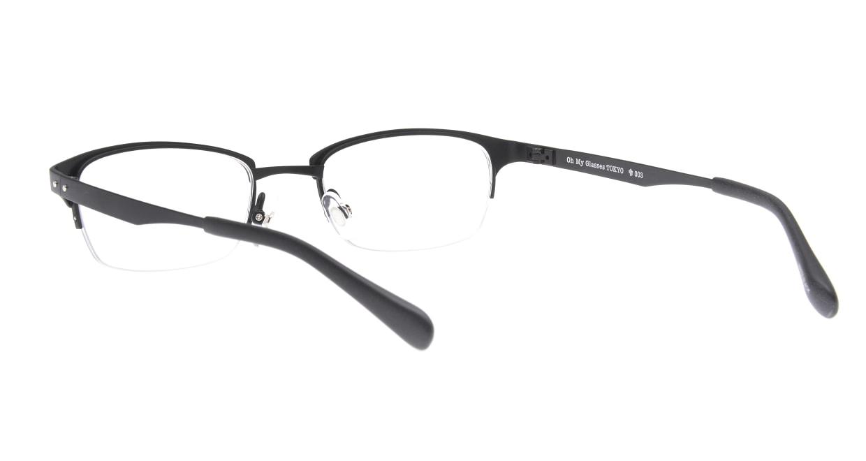 Oh My Glasses TOKYO 令-003-Matte-Black-51 [メタル/鯖江産/ハーフリム/スクエア]  3