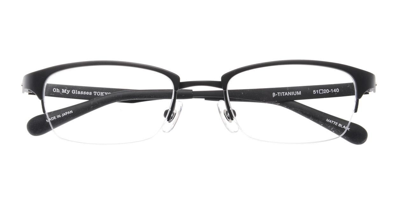 Oh My Glasses TOKYO 令-003-Matte-Black-51 [メタル/鯖江産/ハーフリム/スクエア]  4