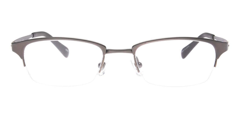 Oh My Glasses TOKYO 令-003-Gray-51 [メタル/鯖江産/ハーフリム/スクエア/グレー]