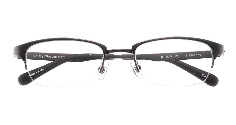 Oh My Glasses TOKYO 令-003-Gray-51 [メタル/鯖江産/ハーフリム/スクエア/グレー]  4