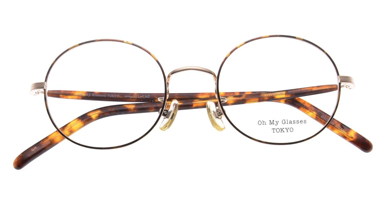 Oh My Glasses TOKYO Lia2 omg-133-DM-48 [メタル/丸メガネ/べっ甲柄]  4