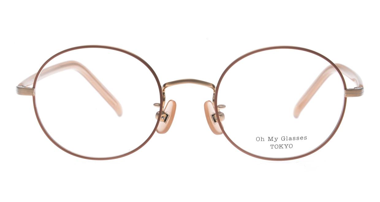 Oh My Glasses TOKYO Lia2 omg-133-MRN-48 [メタル/丸メガネ/ピンク]