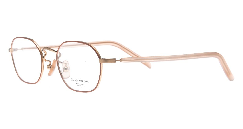 Oh My Glasses TOKYO omg-134 Reggie2-MRN-47 [メタル/スクエア/ピンク]  1