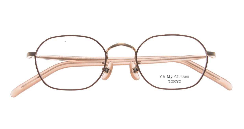 Oh My Glasses TOKYO omg-134 Reggie2-MRN-47 [メタル/スクエア/ピンク]  4